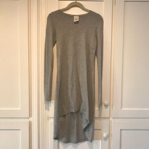 Grey Lightweight Long Sleeve T-Shirt Dress